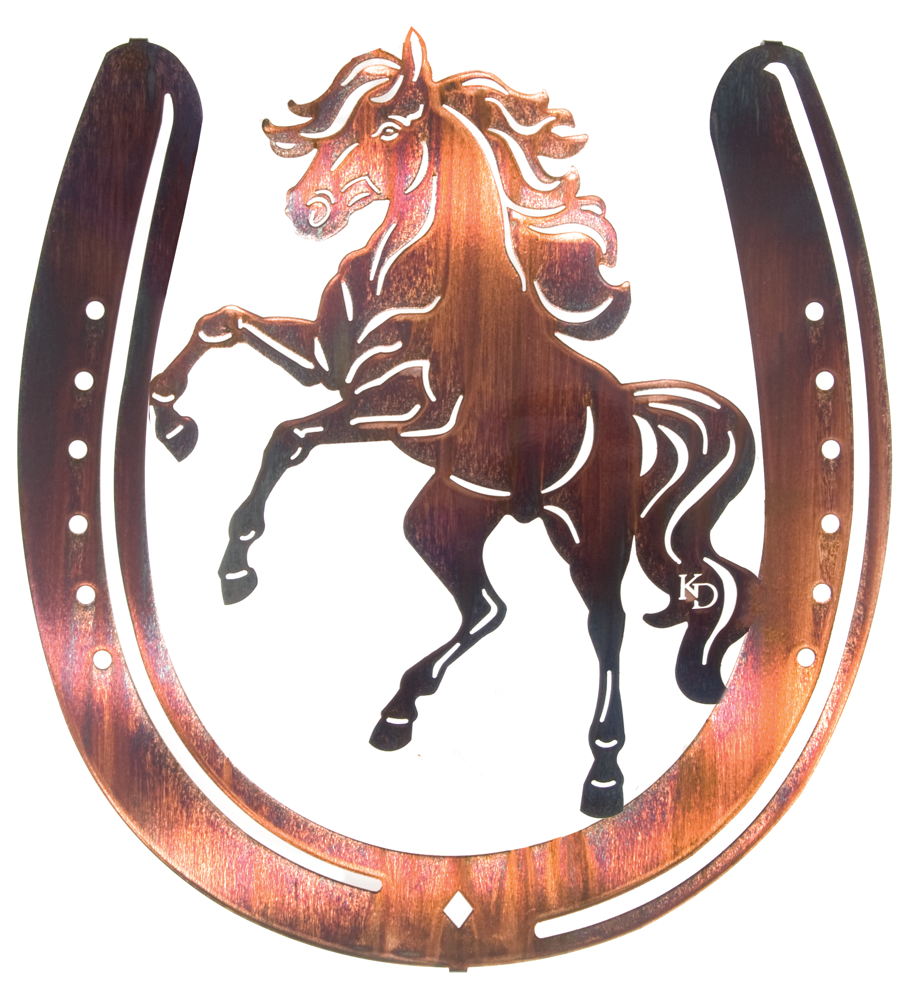 Horse metal wall art hangings hanging wall art of horses by lazart productions at carolynskorner where our customer service is forever amipublicfo Gallery