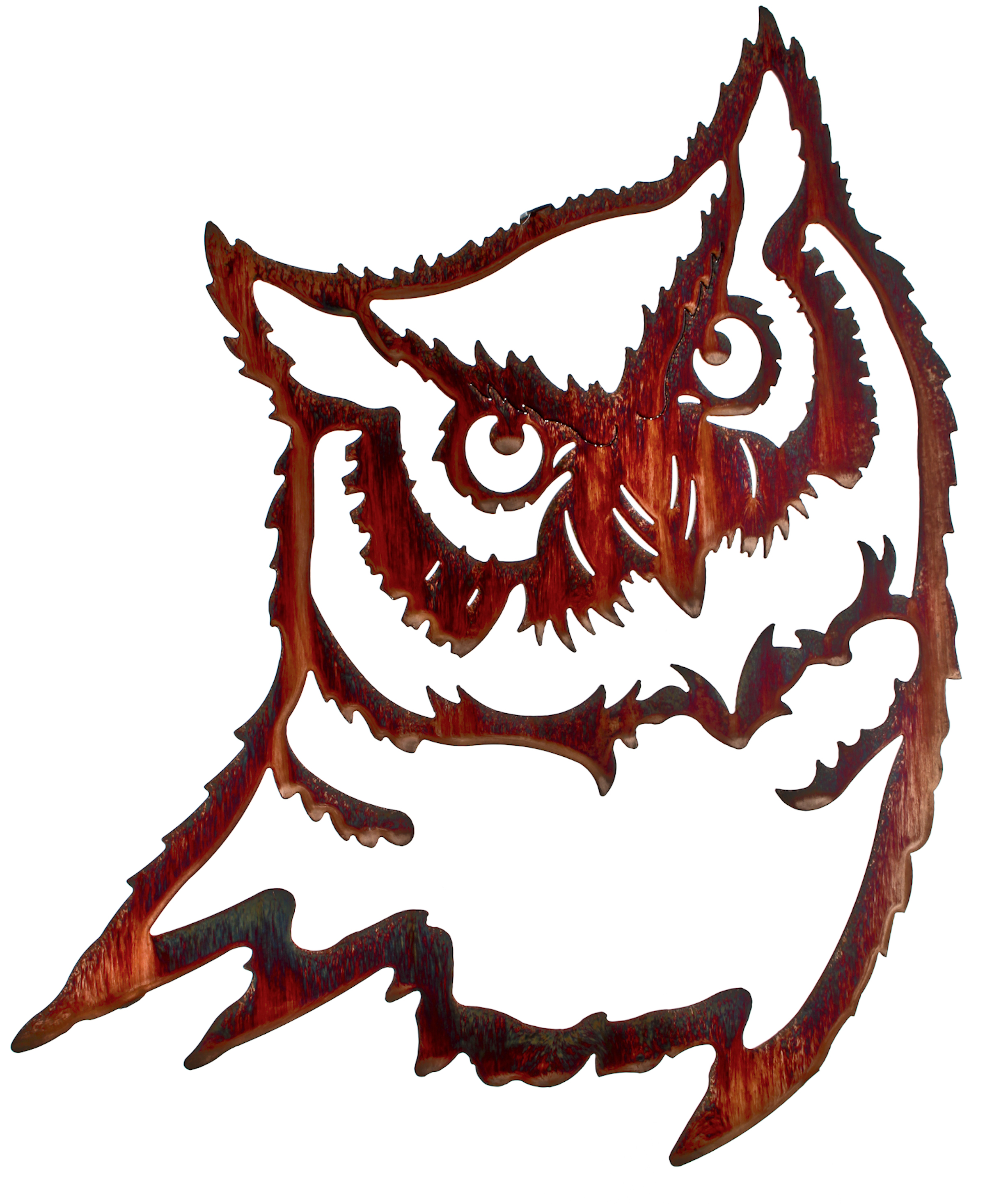 METAL WALL HANGINGS OF OWLS, OWL WALL ART, LAZART, THIRSTYSTONE
