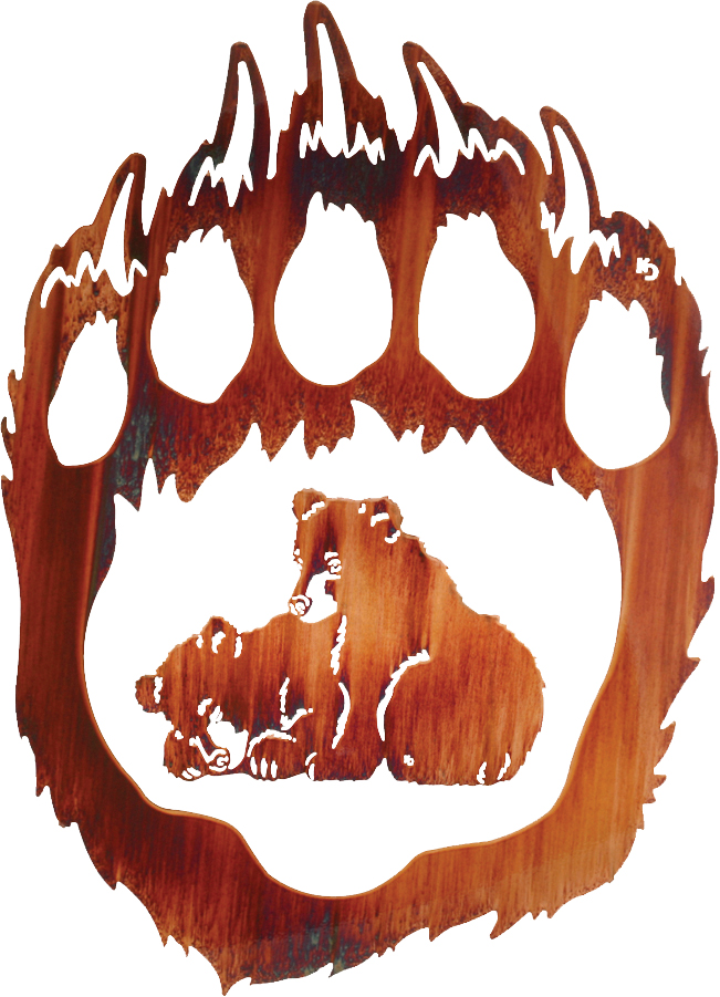 Bear Wall Art bear metal wall art, metal bear wall hangings, laser cut hanging