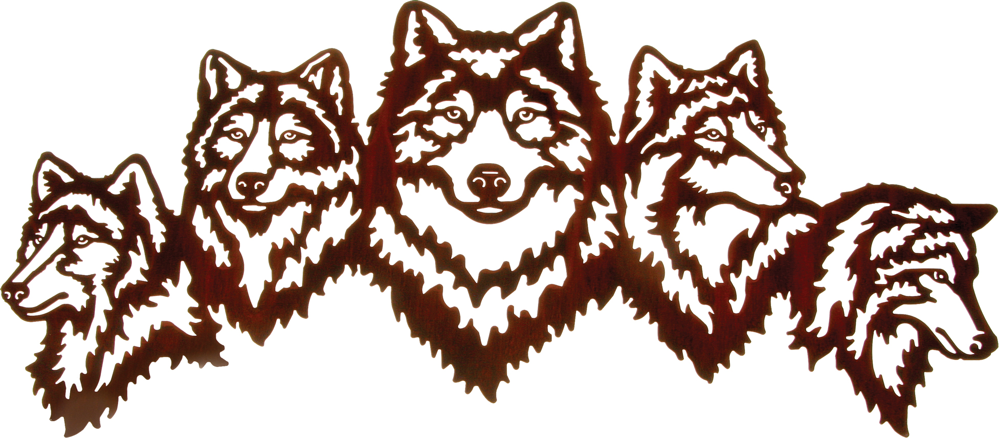 Wolf Wall Art wolf wall art, wolf wall hangings, metal wall hangings of wolves
