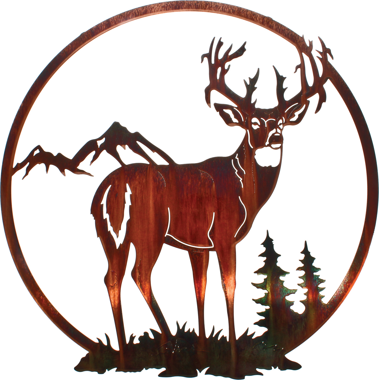 Wall Art Of Deer : Deer metal wall art hangings hanging bucks of