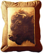 Pillows wityh buffalo