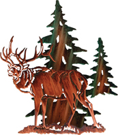 3D Wall art, decor and wall hangings of elk