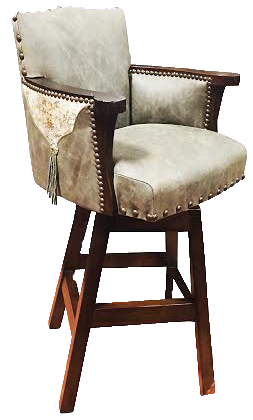 Country Western bar stool with fringe