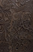 BOUTIQUE BROWN EMBOSSED LEATHER SAMPLE