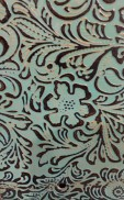 BOUTIQUE TURQUOISE BROWN EMBOSSED LEATHER SAMPLE