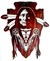 Wall art, decor and wall hangings of Native American Indian