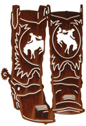 Metal Wall art, decor and wall hangings of COWBOY BOOTS