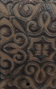 CELINECOPPERSIENNA EMBOSSED LEATHER SAMPLE