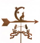 howling at moon weathervane