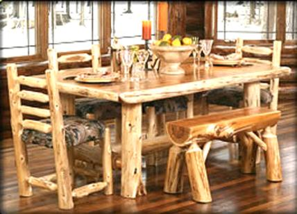LOG CABIN DINING ROOM FURNITURE, RUSTIC DINING ROOM FURNITURE