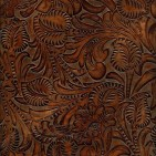 FLORAL BROWN SUGAR EMBOSSED LEATHER SAMPLE