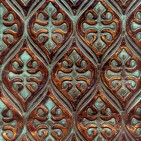 GATEWAY COPPER TURQUOISE EMBOSSED LEATHER SAMPLE