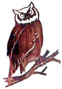 Metal Wall art, decor and wall hangings of GREAT HORNED OWL