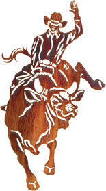 Metal Wall art, decor and wall hangings of BUCKING BRONCS