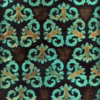 KING TURQUOISE BROWN EMBOSSED LEATHER SAMPLE