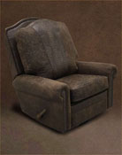 Rustic Leather Recliner