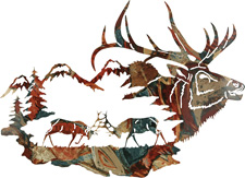 Wall art, decor and wall hangings of Elk