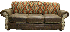 Western Sofa, Chair and Ottoman
