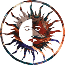 Wall Art Hangings of Sun/Moon Harmony