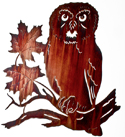 Metal Wall art, decor and wall hangings of OWLS