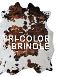 Tri color brindle cowhide