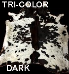Tri color dark cowhide