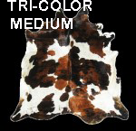 Tri color medium cowhide
