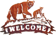 WELCOME SIGN WITH BEARS