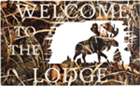 HUNTING AND FISHING WELCOME SIGNS