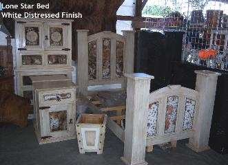 Cowhide bedroom suite
