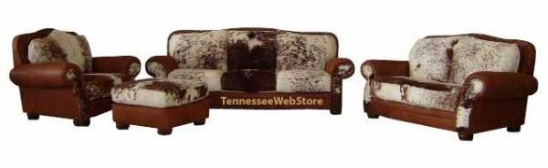 Rustic Cowhide 4 piece sets