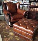 Country Western Chair and Ottoman