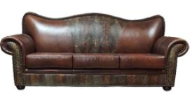 Exotic Alligator Stamped Leather Couches