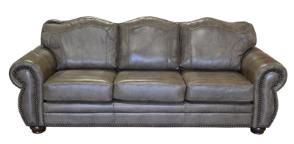 Rustic Genuine Leather Sofa, Couch